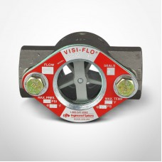 """OPW Visi-Flo® 1400 Series Sight Flow Indicators 1"""" Carbon Steel Unit with Delrim Propeller, Threaded Ends"""