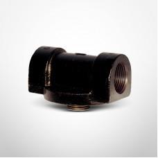"Cim-Tek 50002 Filter Mounting Adaptor, 1"" NPT Inlet/Outlet, Cast Iron"