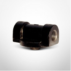 "Cim-Tek 50003 Filter Mounting Adaptor, 3/4"" NPT Inlet/Outlet, Cast Iron"