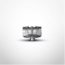 "Cim-Tek 50109 805 Series Filter Adaptor, 1"" NPT Inlet/Outlet, Aluminum"
