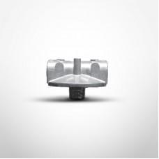 "Cim-Tek 50163 810 Series Filter Adaptor, 1 1/2"" NPT Inlet/Outlet,  Aluminum"
