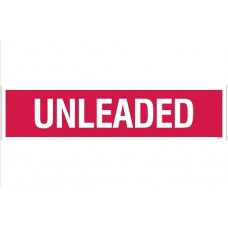 """""""Unleaded"""" Decal - Red - 3''x12''"""