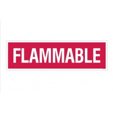 """""""Flammable"""" Decal 4''x14''"""