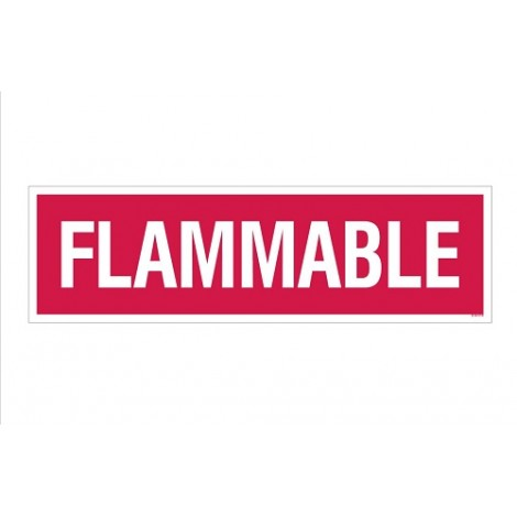 """Flammable"" Decal 4''x14''"