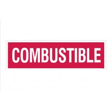 """""""Combustible"""" Decal 4''x14''"""
