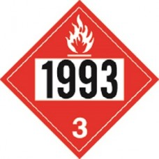 """""""1993"""" Decal 11''x 11'' White #3"""